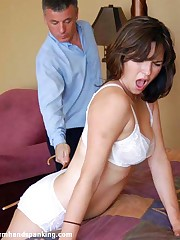 Michaela gets a 50-swat hairbrush spanking be expeditious for long distance calls at resolution