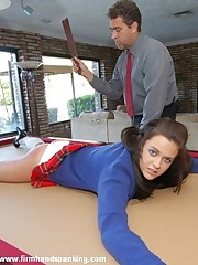 Amelia's blogging earns the brush a fearsome bare bottom spanking
