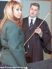 14 strokes be proper of the cane, small-clothes down, for Danielle Hunt in School Detention