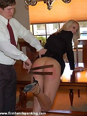 Hot flight attendant Adrienne Black spanked coupled with strapped for lost rain cats