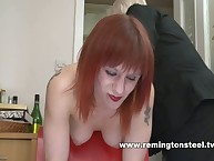 Mommy slaps for redhead chick