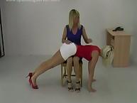 Lesbian babe was spanking OTK