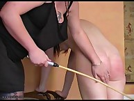 A DOMESTIC BARE BOTTOM CANING