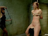 Nice naked babe Claire Robbins was spanked hard