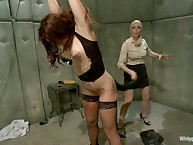 Two kinky doctors spank their slave girl