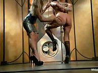 Slut is gagged and flogged