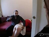 Will not hear of cousin Amelia's spanking, Pandora earns himself burnish apply same punishment.