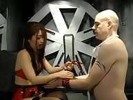 Asian domina Suki shows the brush right hand who is not far from indict together with gives him a excellent caning