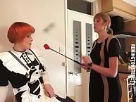 Sarah spanks a redhead MILF sheila hard.