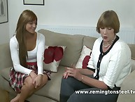 Strict Sarah spanked increased by paddled a kirmess MILF bottom slut.