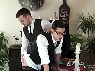 Gay tailor getting ass spanked