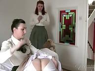 Edwardian style OTK ass spanking