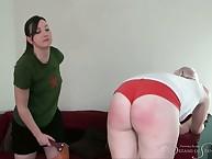Fat female was punished hard