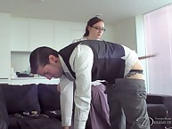 Fatty effect glasse spanked boy