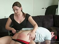 Tattooed chap was otk spanked