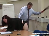 Education punishment for stupid chick