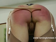 Old whore was spanked hard
