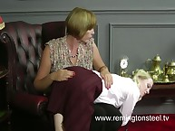 Mature turned blond's ass red