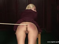 Oldman was thrashing cute blonde