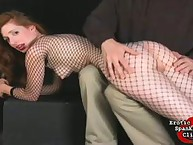 Spanked in Fishnets