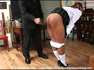 Amazing maid has her buns lathered