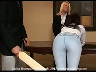 Spanking tuition keep from screamed Carina Thompson