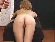 Caning for pretty girl
