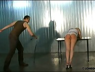 Tender cutie taking bestial whipping