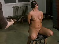 Blindfolded gagged milf desires spanking