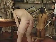 Naughty Girl was brutally caned