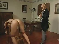 Pretty babe was spanked