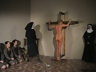 Tied Naked to the Cross and Brutally Punished
