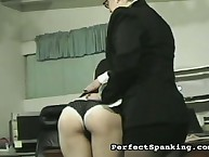 Strict wench leading spanked secretary