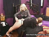 Salacious quean has savage whips on her ass