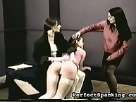Two mistresses bully bigass chick