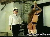 Two chicks was caned and whipped