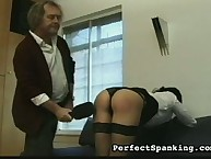 Painful paddling from master spanker