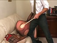 Big bottom was punished with paddle