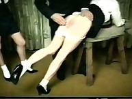 Two asses suffering from spanking