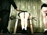 Two asses offended from spanking