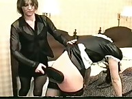 Filthy puss gets mercilles whips on her rear