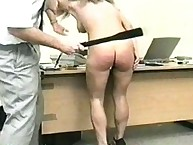 Bigass secreatary got different spanking