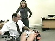 Bigass secreatary got antithetic spanking