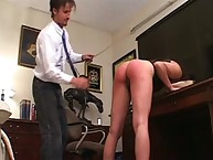 Ass caning shakedown disguise brunette
