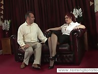Curve redhead miss was caned