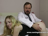 Doctor punished a masturbating milf