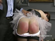 OTK spanking for lazy maid
