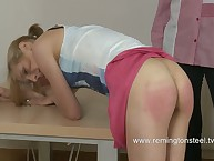 Daughter's ninny spanked impact kitchen