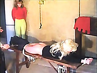 Strict mistress spanked a sub