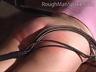 Dissolute girl has savage spanks on her rear